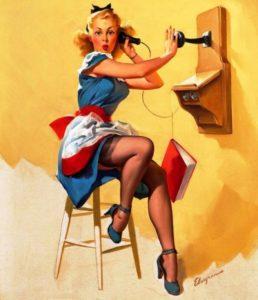 Pin-Up - необычное стилистическое направление 50-х годов